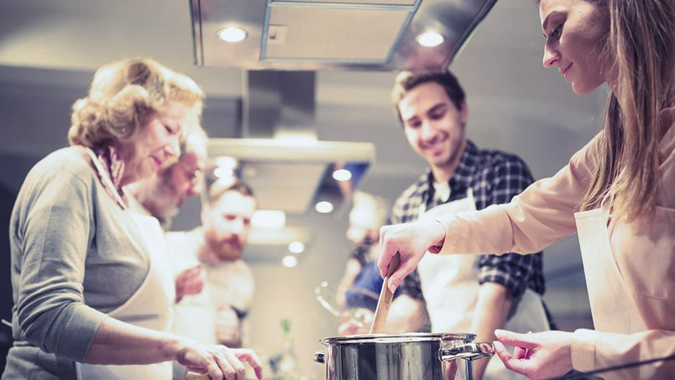 (Stock photo) family cooking in the kitchen