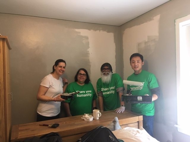 Volunteers give a cherished community space a make over