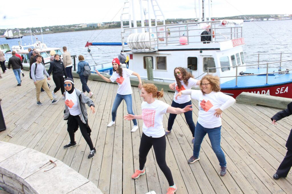 Zumba keeps spectators busy at the annual Harbour Swim