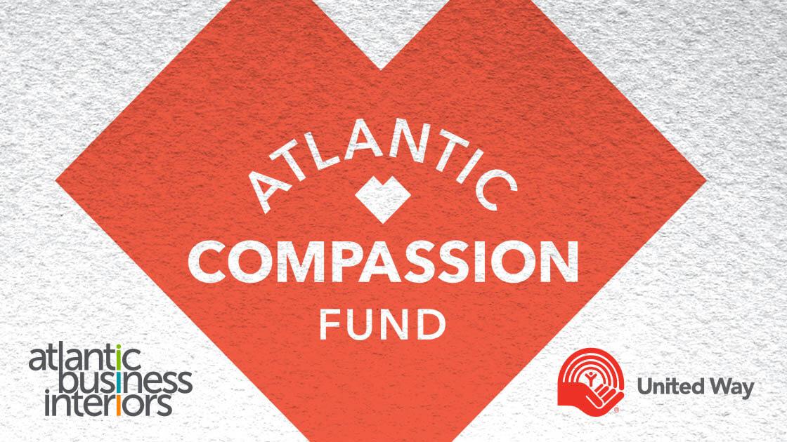 Atlantic Compassion Fund logo with Atlantic Business Interiors logo