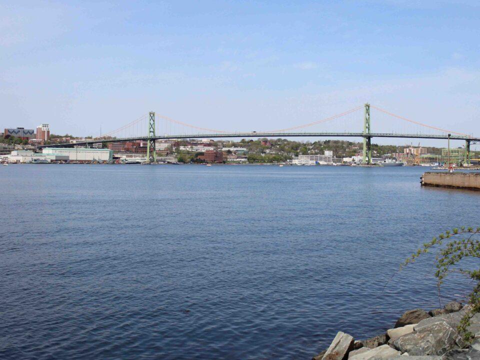 summer shot of bridge over halifax harbour