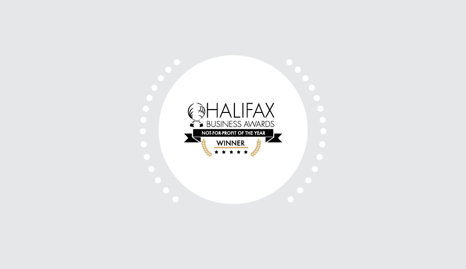 Logo that says Halifax Business Awards Not-for-Profit of the year Winner