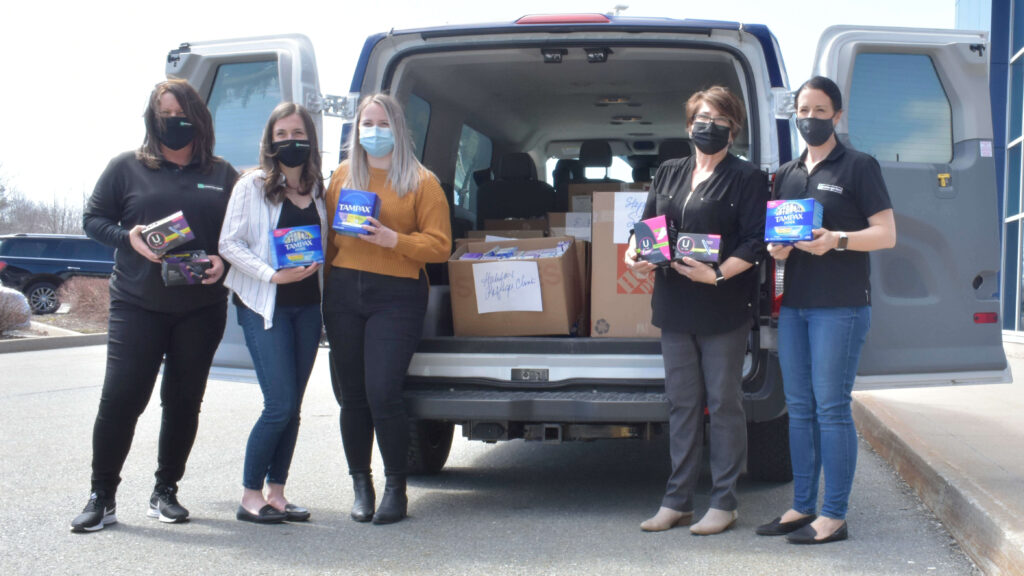 Tampon Tuesday deliveries with NSGEU & Enterprise
